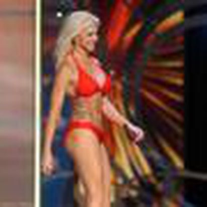 f381fff17 Theresa Vail flaunted her tatoos in the Miss America swimsuit competition.