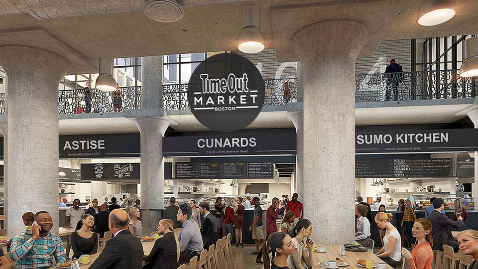 A rendering of Time Out Market Boston.