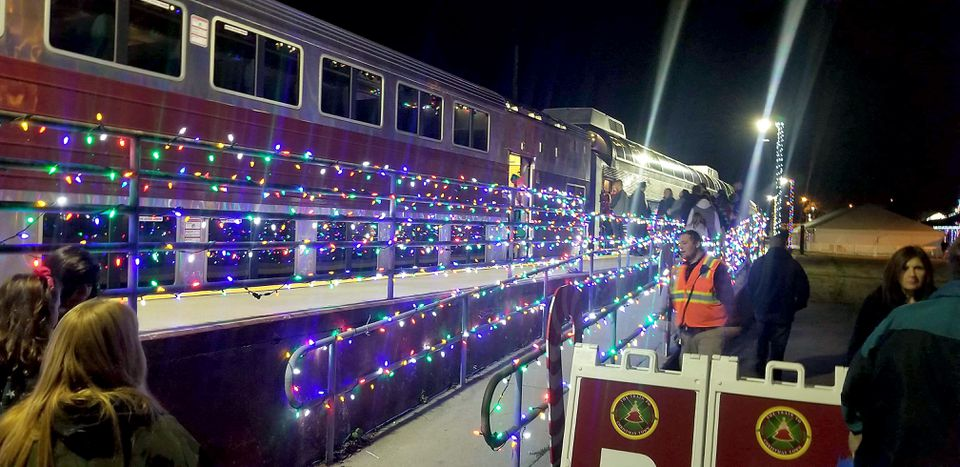 In Wareham, the Christmas train prepped for a special ride with hundreds of first responders and their families on Saturday night. The locomotive hit and killed a man and a woman on the tracks.