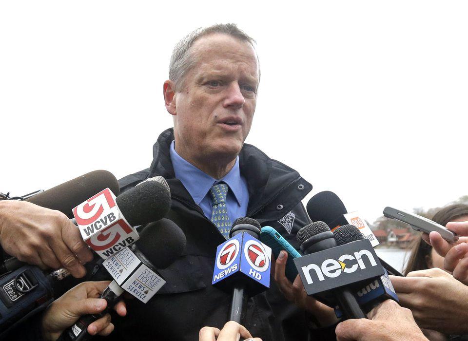 Governor Charlie Baker spoke to members of the media last week.