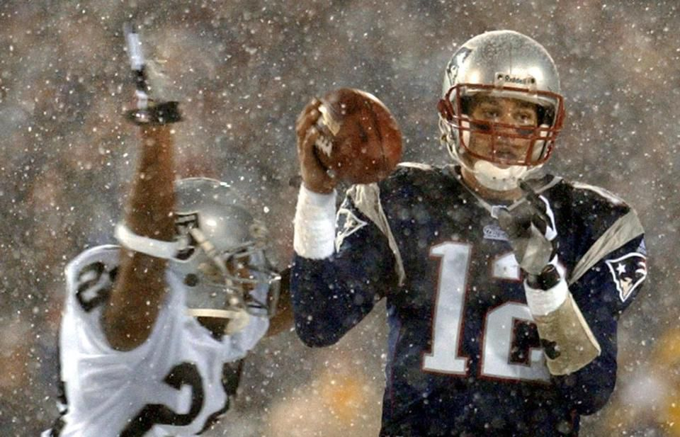 """The """"tuck rule"""" grew in prominence in 2002, when an apparent Tom Brady fumble on this play was called back because of the rule. Had the play been ruled a fumble, the Patriots would have lost the game. Instead, they won the Super Bowl."""