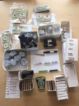 Evicdence seized from a smoke shop in Maplewood Square