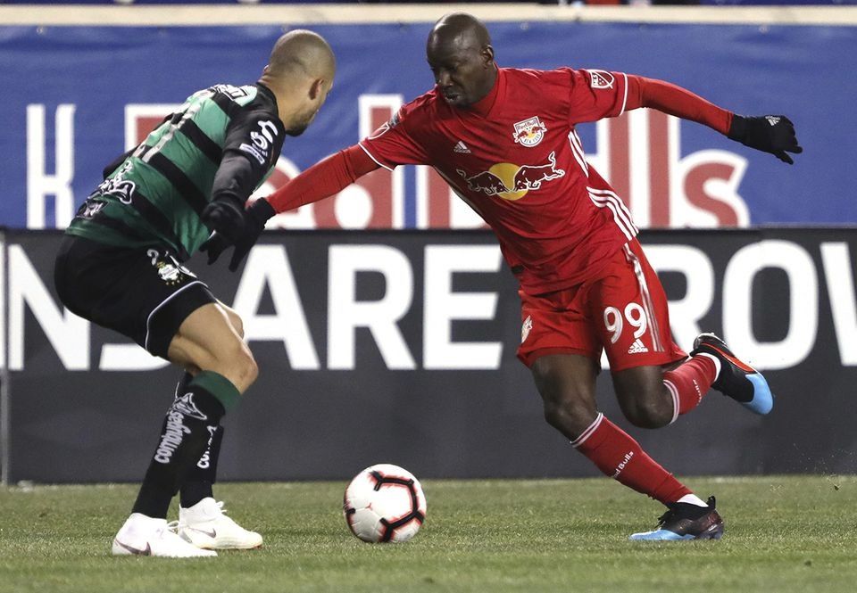 Bradley Wright-Phillips (right) has been a thorn in the Revolution's side.