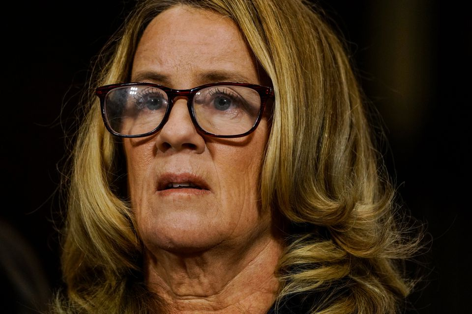 Christine Blasey Ford addresses the Senate Judiciary Committee on Sept. 27, 2018.