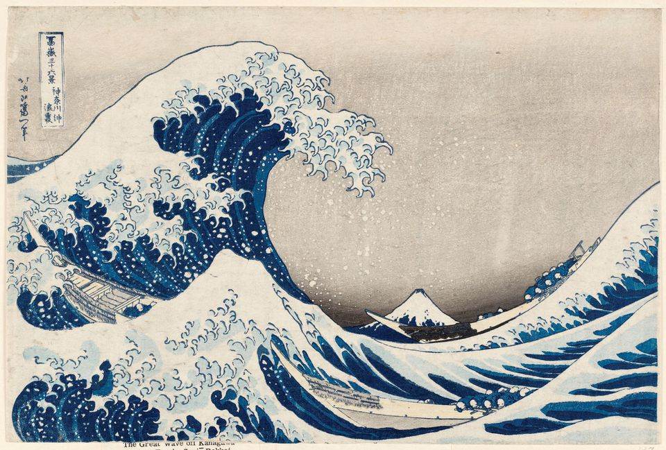 """""""The Great Wave"""" was among William Sturgis Bigelow's gifts to the Boston museum."""