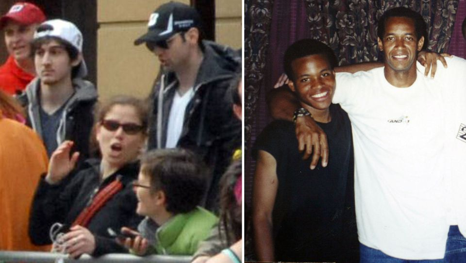 Pictured at left, Marathon bombing suspects Dzhokhar and Tamerlan Tsarnaev. At right: Lee Boyd Malvo saw John Allen Muhammad as a father figure. There are some similarities between the Washington, D.C., snipers and the Tsarnaev brothers.