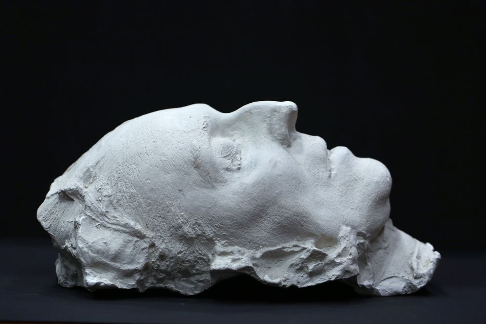 The death mask of Alban Berg is at Harvard University's Houghton Library.
