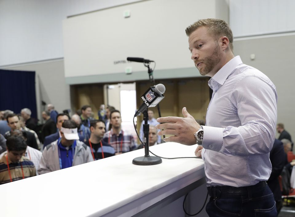 The Rams' Sean McVay, the 2017 NFL Coach of the Year, has been utilizing analytics throughout his coaching career.