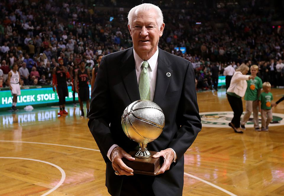John Havlicek was honored in 2015 at TD Garden on the anniversary of his famous steal.