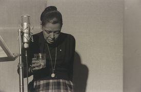 """Hinton's """"Billie Holiday, Recording Studio, N.Y.C."""""""