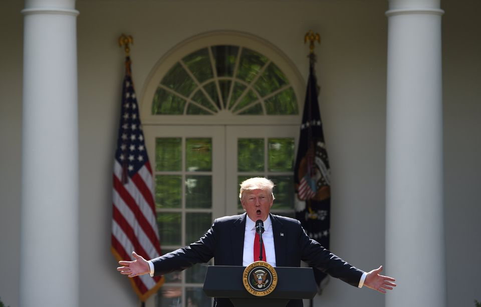 President Donald Trump announced his decision to withdraw the United States from the Paris climate accord.