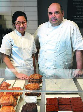 Pastry chef Hana Quon and Frederic Robert.