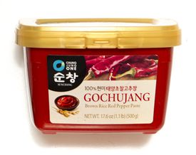 TIP: Korean chili powder, called gochugaru, can be fine or coarse — I used the latter in the soft tofu stew. A second popular heat source in Korean cuisine is gochujang (above), a red chili paste, which has roasted and slightly sweet undertones and can vary in hotness.