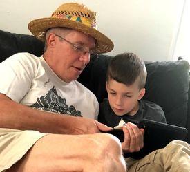 Stephen Mattin (left) and his grandson, Ronan Mattin, 9.