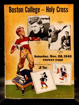 The cover of the game program from the BC-Holy Cross game in 1942.