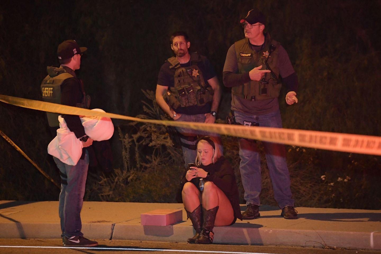 Sheriff's deputies spoke to a potential witness.