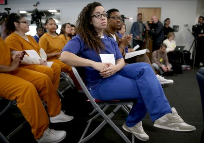 At unusual forum, candidates for DA seek support of inmates - The