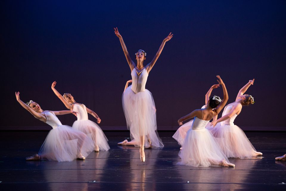 Julia Berkman, 16, of Needham (center), and the Charles River Ballet Academy, which is part of New Year's Needham.