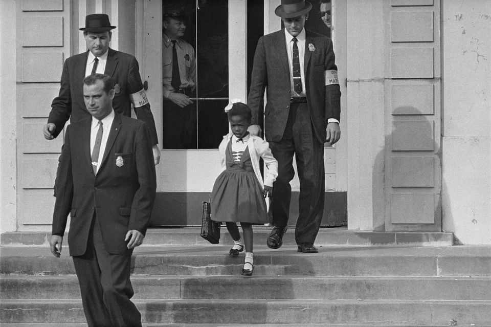 """[E]ven though  this mob of white people was out  there every day,  threatening to kill me, every day there also was  a white woman  there to greet me,""  Ruby Bridges Hall  has said. ""Her name was Barbara Henry. She was my teacher."""