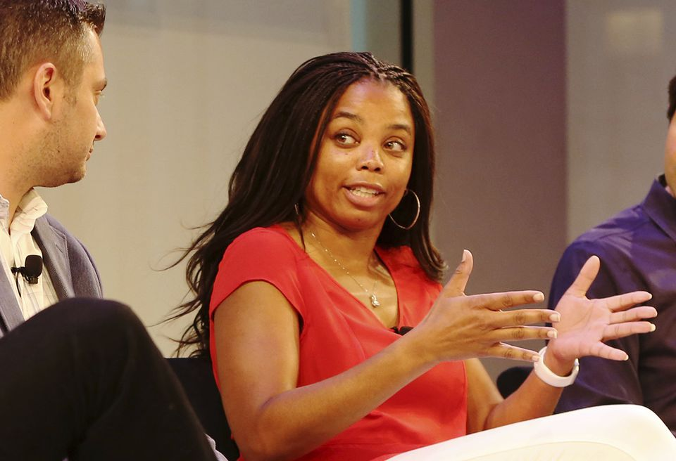 Jemele Hill was on Tuesday evening's ''SportsCenter'' broadcast as usual, despite controversy over her tweets.