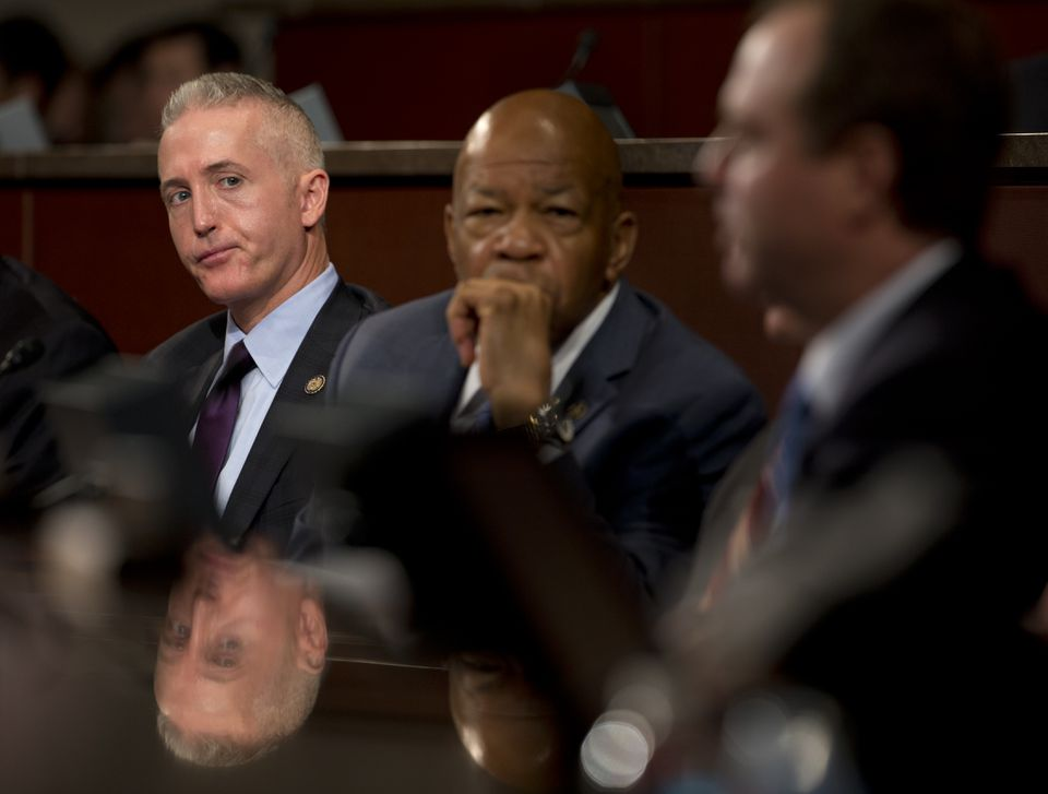 House Select Committee on Benghazi chairman Trey Gowdy, and ranking member Elijah Cummings, listen during a hearing in September.