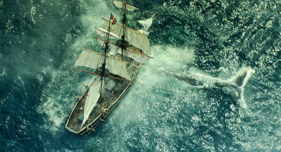 "Chris Hemsworth in ""In the Heart of the Sea,"" the tale of a ship attacked by a whale."