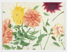 """""""Late Summer Flowers,"""" by Alex Katz, at the Center for Maine Contemporary Art."""