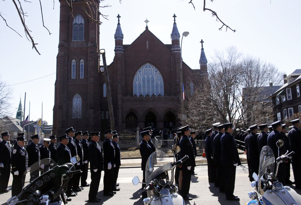 Firefighters from across the country were at the wake for Lieutenant Edward J. Walsh Jr. at St. Patrick's Church.
