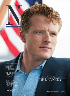 Joseph Kennedy III was photographed aboard The Valiant by photographer-at-large Kit Noble and interviewed by publisher Bruce A. Percelay and editor Robert Cocuzzo for the cover of the July issue of Nantucket's N Magazine. Art direction by Paulette Chevalier.