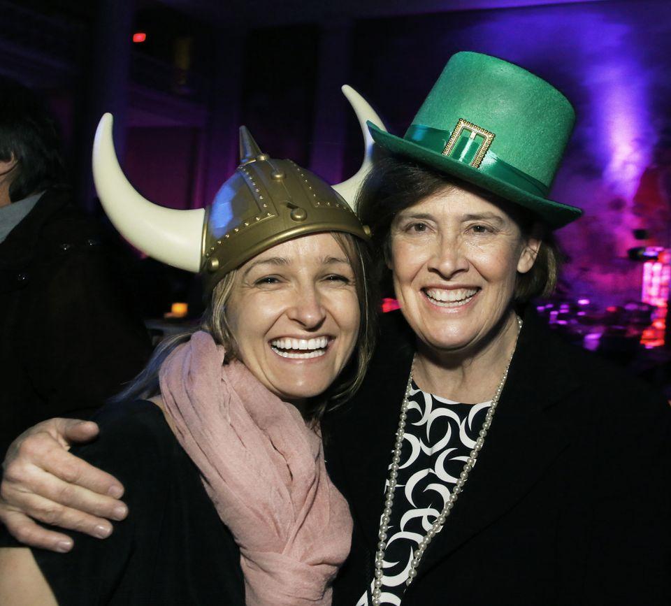 Anya Bear (left) of Boston and Nancy Hays of Cambridge.