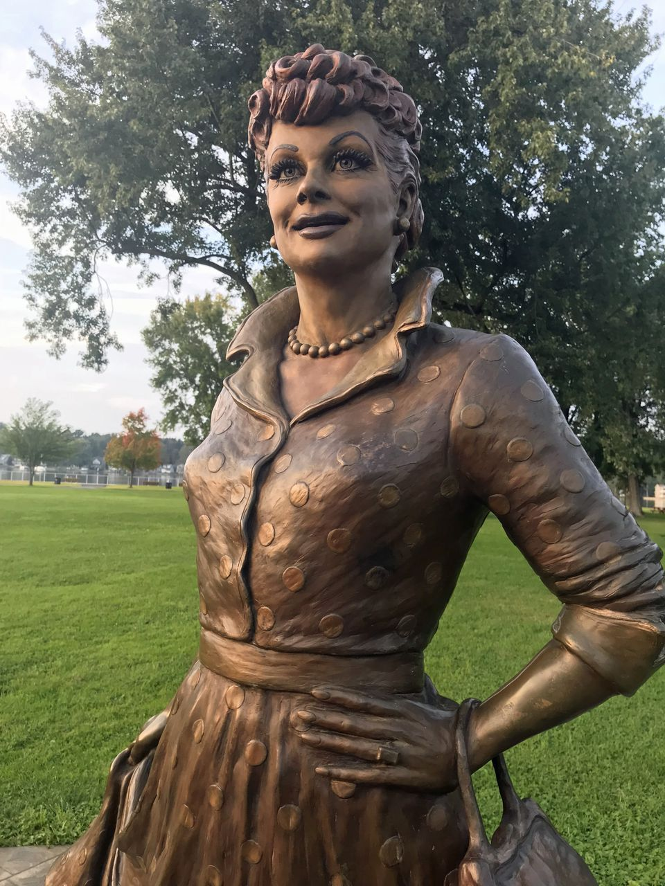 """A memorial park dedicated to homegirl Lucille Ball is home to two statues, locally known as """"Pretty Lucy"""" (shown here) and """"Scary Lucy."""""""