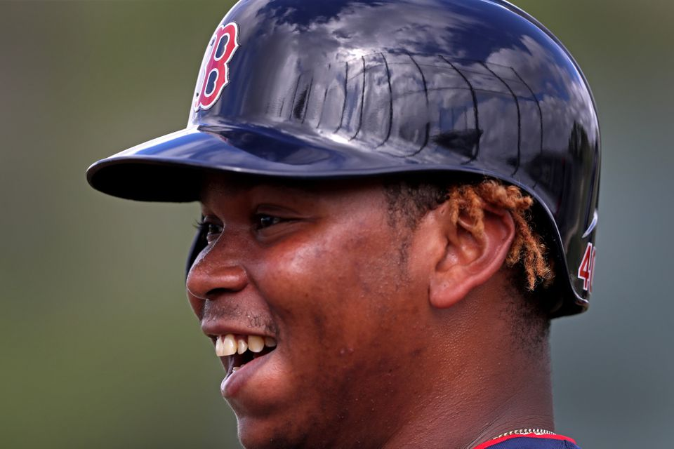 Rafael Devers has hit .438 through 12 games this spring with four extra-base hits and a 1.094 OPS.