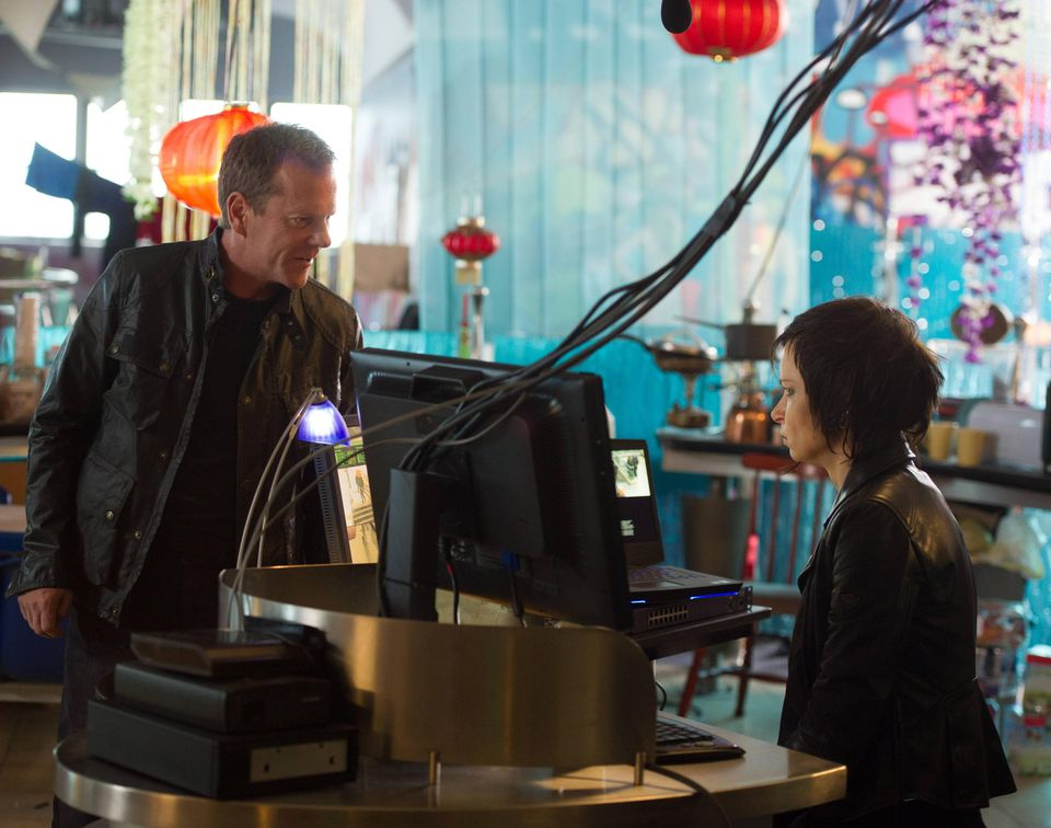 """Kiefer Sutherland with Mary Lynn Rajskub in the two-hour season premiere of """"24: Live Another Day,"""""""