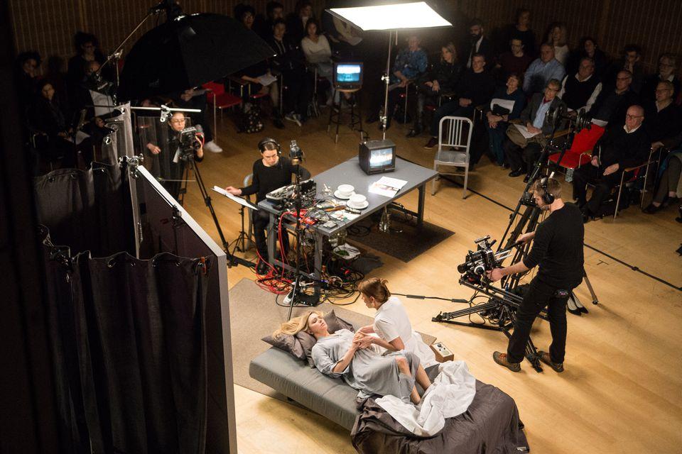 "Lacey Dorn and Amanda Crider in Keeril Makan's opera ""Persona,"" at the Isabella Stewart Gardner Museum."