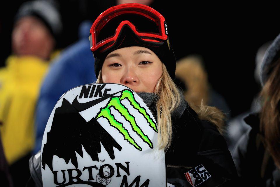 Chloe Kim is the US's top snowboard halfpipe athlete.