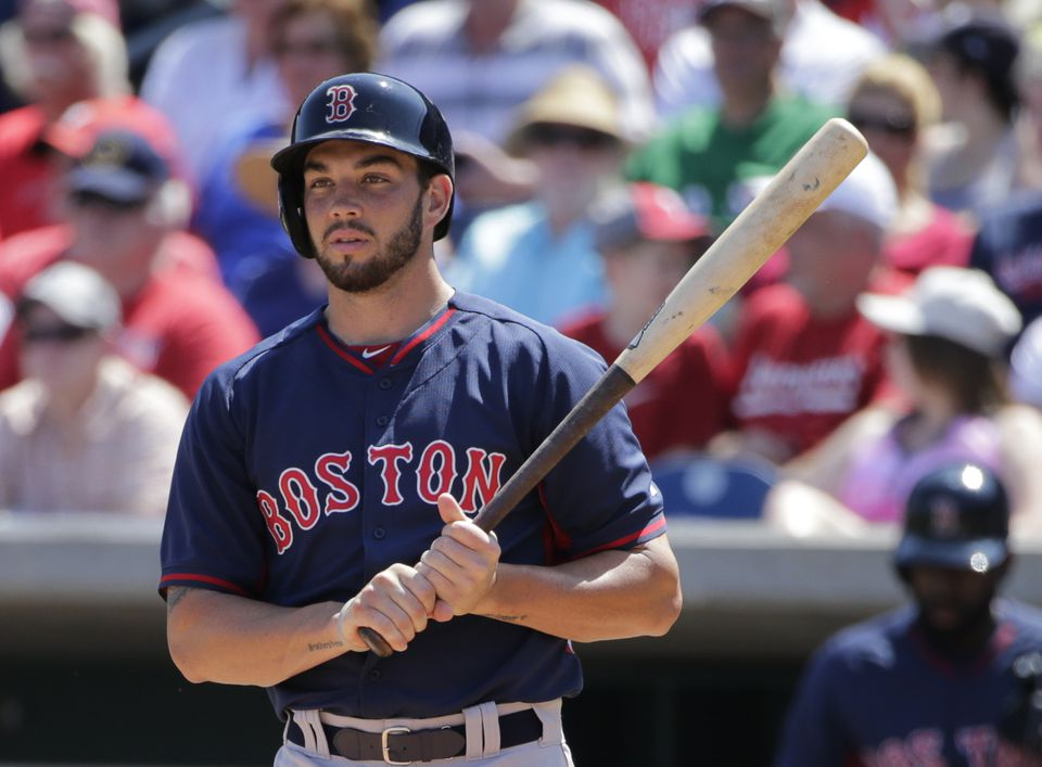 """Red Sox prospect Blake Swihart is good both behind the plate and with the bat. Said one scout: """"That's why you don't trade him. And that's why the Phillies and other teams would love to have him."""""""