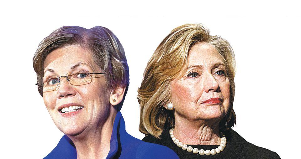 Elizabeth Warren and Hillary Clinton.