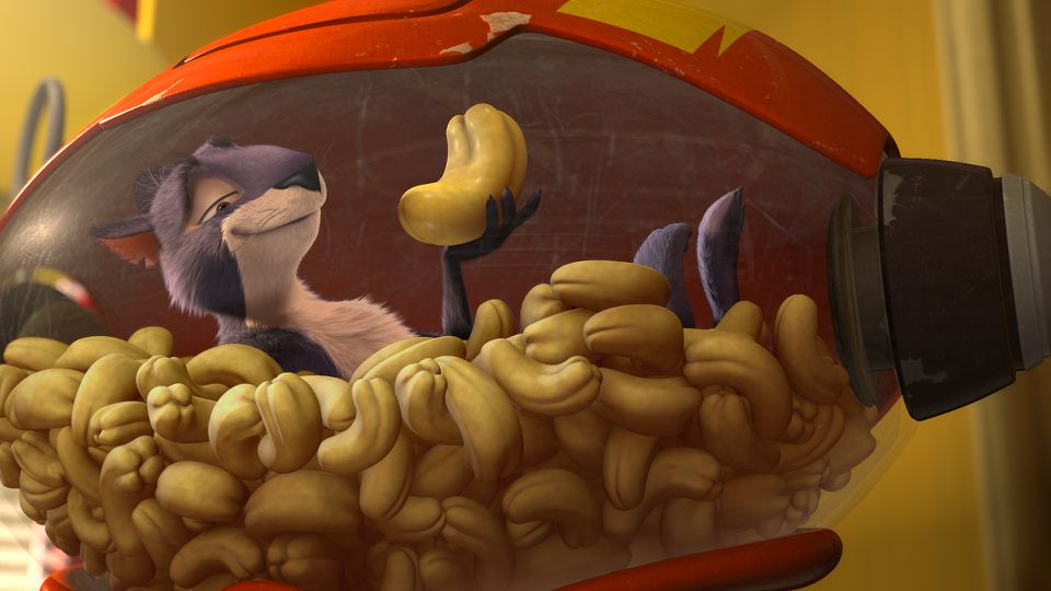 """Surly the squirrel is voiced by Will Arnett in the 3-D animated film """"The Nut Job."""""""