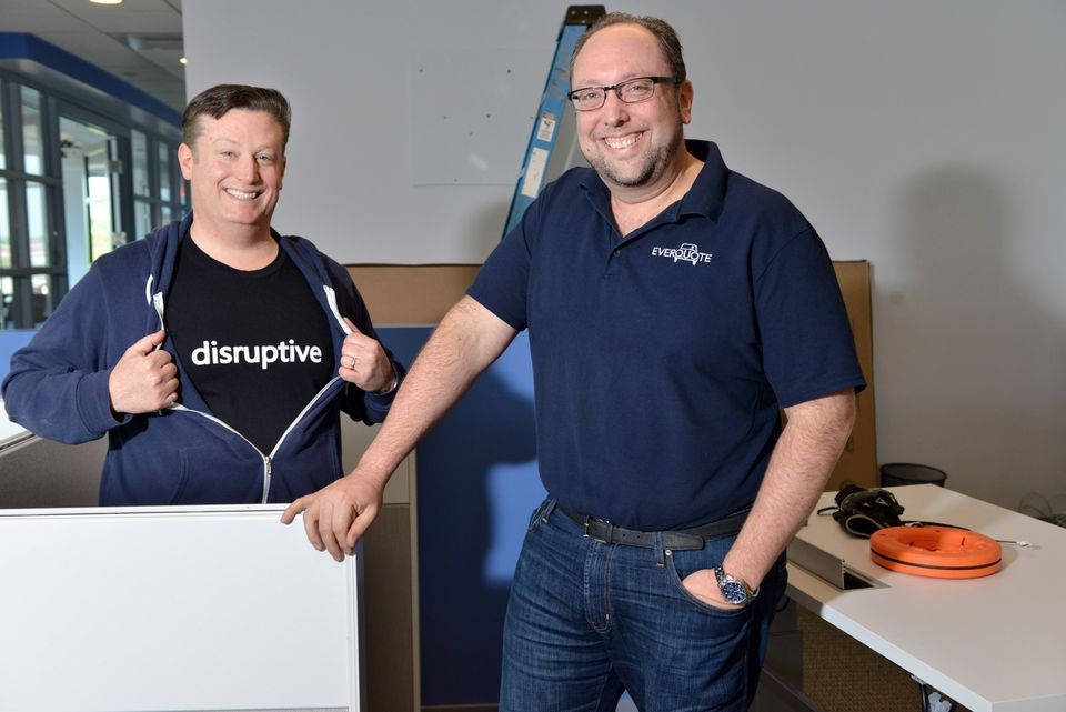 EverQuote cofounders Seth Birnbaum (left) and Tomas Revesz.