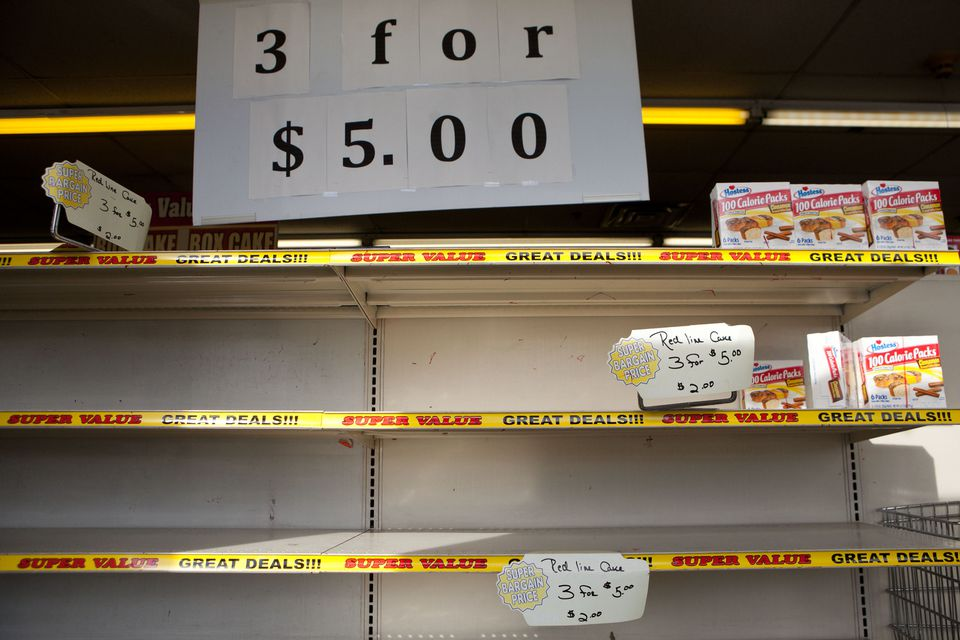 A Hostess store's shelves in Malden were nearly stripped bare on Friday.