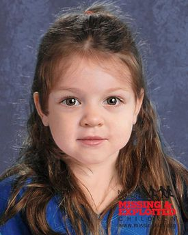 A computer-generated image of a toddler-age girl whose body was found on the western shore of Deer Island.