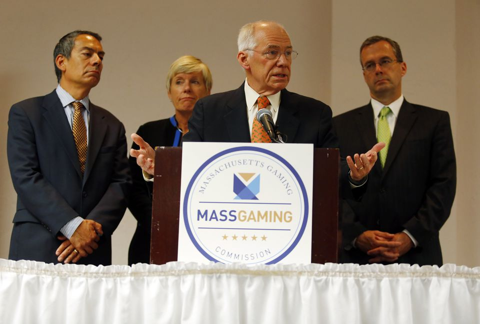 Members of the Massachusetts Gaming Commission addressed reporters Tuesday after awarding Wynn Resorts a casino license.