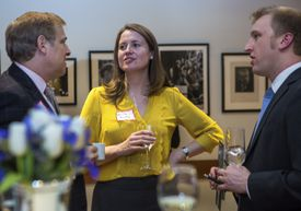 A BSO cocktail party drew young professionals following a Yuja Wang concert.