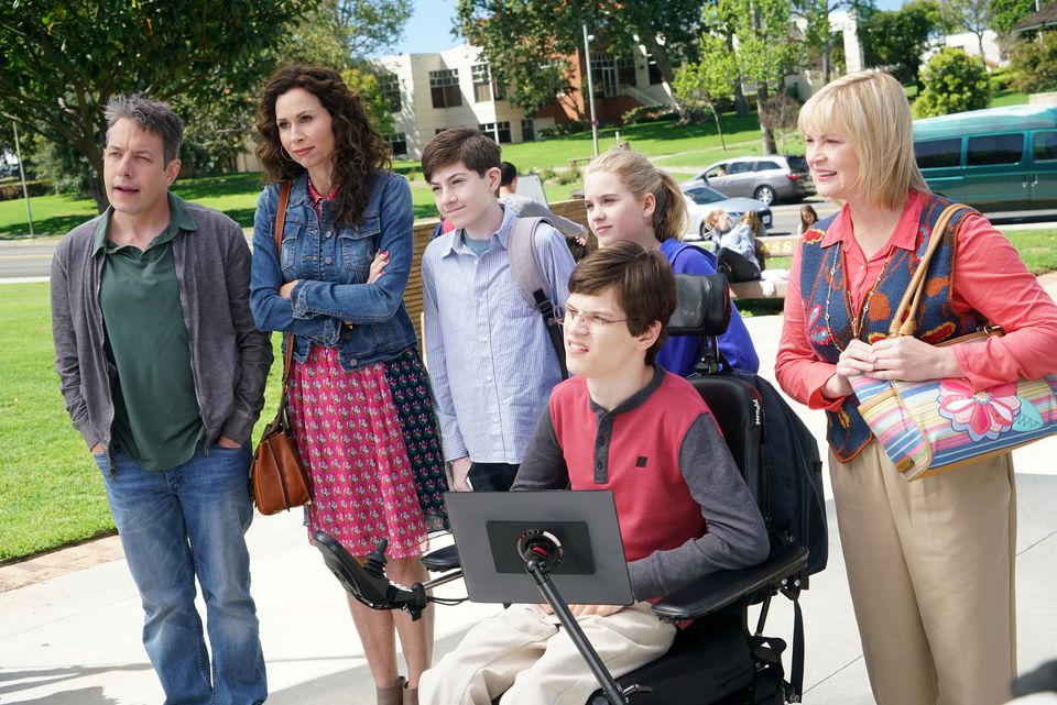 """Minnie Driver (second from left) stars in """"Speechless."""""""