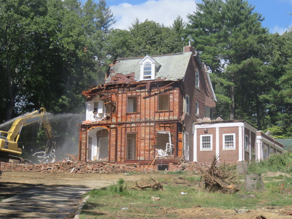 The final stages of the teardown on Valentine Street in the West Newton Hill neighbohood on Sept. 16.