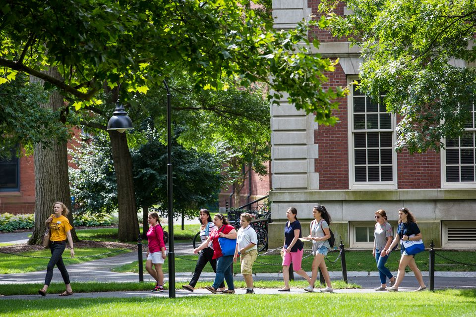 Students walked through Smith College's campus last week.