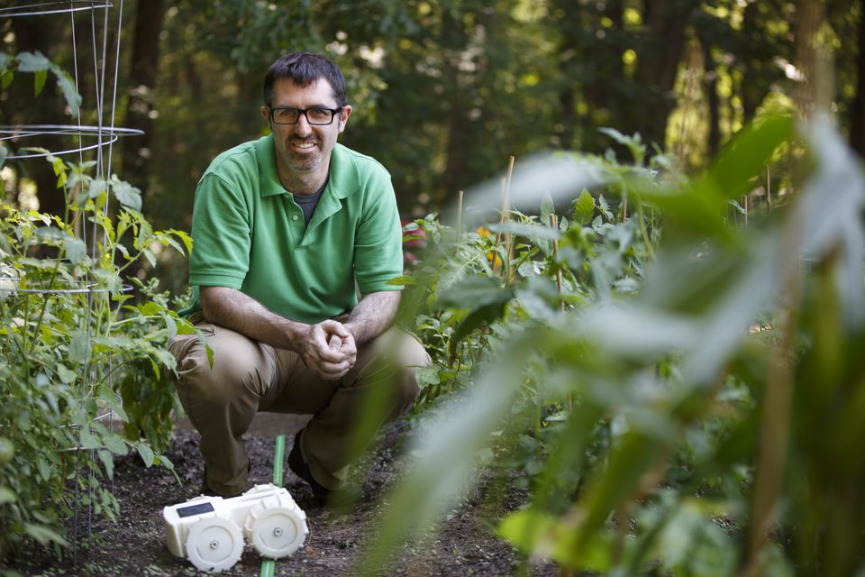 Rory MacKean is cofounder and CEO of Franklin Robots in North Billerica, which is building a small, solar-powered robot that can weed gardens.