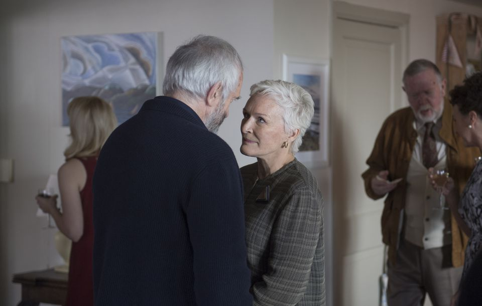 """Glenn Close (with Jonathan Pryce) in """"The Wife."""""""