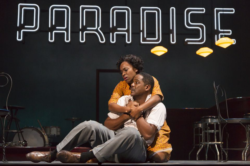 "Kristolyn Lloyd and Blair Underwood in the Williamstown Theatre Festival production of ""Paradise Blue."""