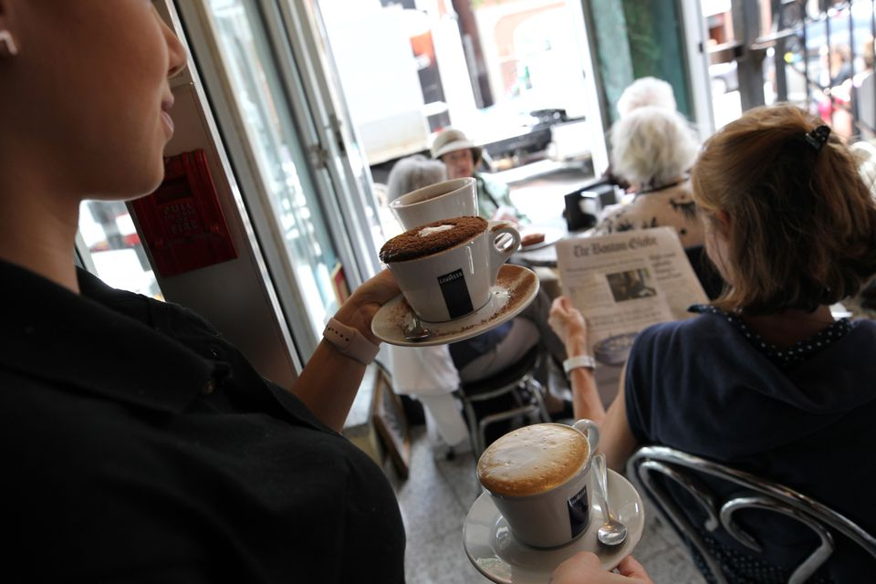 Coffee at Caffe Vittoria.
